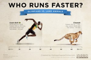Usain Bolt would get destroyed by a cheetah